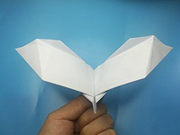 a bat paper airplane flapping wings
