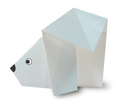 Bear Origami Bookmark with Free Patterns - That Kids' Craft Site | 352x400