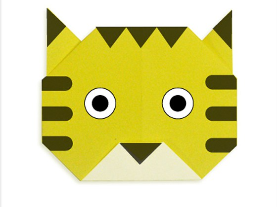 easy-origami-tiger-face