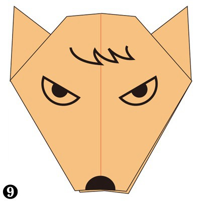 Easy Origami wolf Face Instructions You Can Fold Easily | 400x400