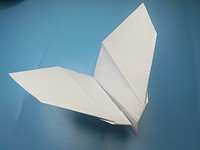 Fold flapping paper airplane