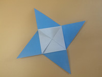 origami 4 pointed star