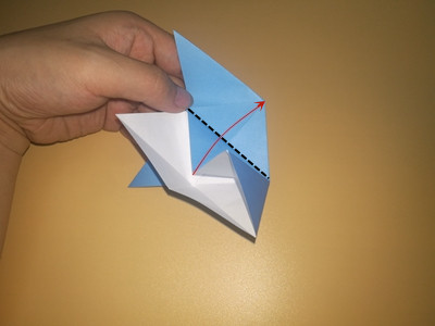 origami-4-pointed-star-Step 10