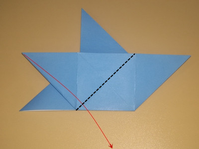origami-4-pointed-star-Step 12