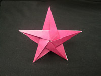 Origami 5 pointed star