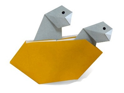 Paper Bird Origami Flapping Bird - Easy Steps - YouTube | 300x400