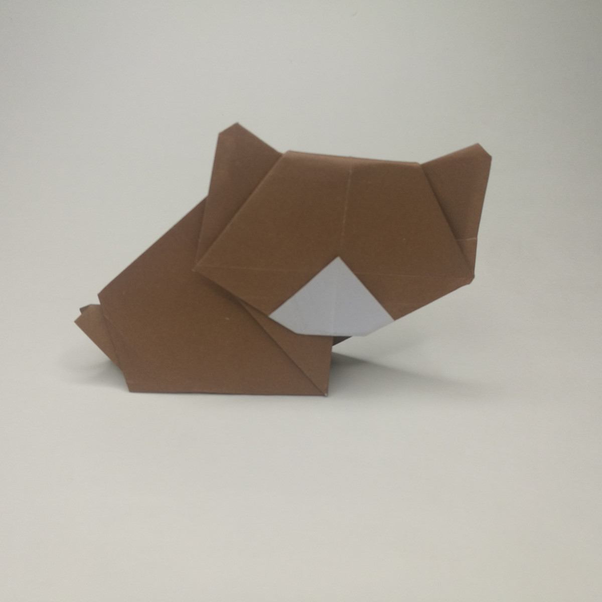 Easy origami bear instructions and diagram on