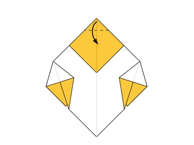 Easy Origami Bee - Make-Origami.com | 300x400