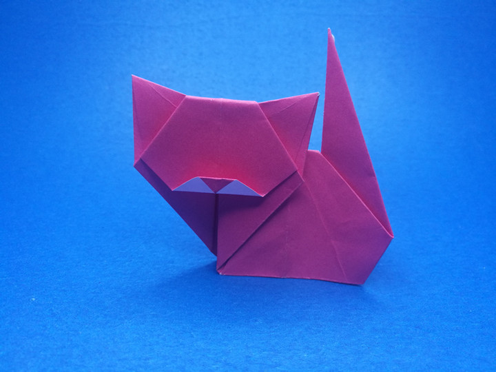 Easy Cat Bookmark - How to make a paper origami cat bookmark - YouTube | 540x720