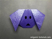 Origami Dog Face