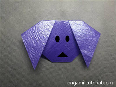 origami-dog-face