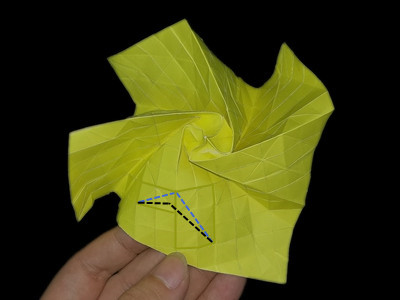 origami-flower-rose-Step 45