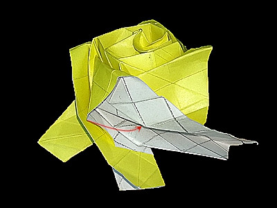 origami-flower-rose-Step 54