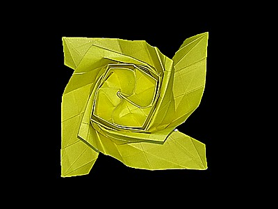 origami-flower-rose-Step 55