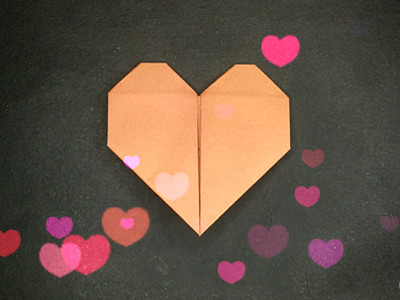 Cute Origami Heart Bookmark for Valentine's Day - That Kids' Craft ... | 300x400