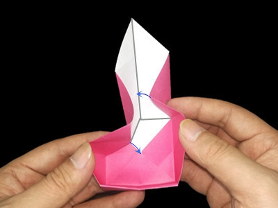 Origami heart box with lid instructions and diagram