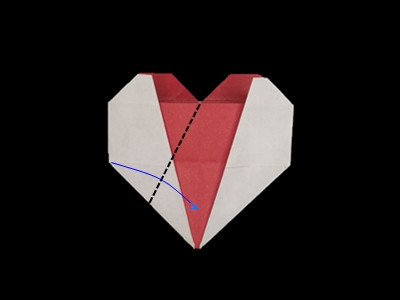 origami-heart-in-heart-Step 29