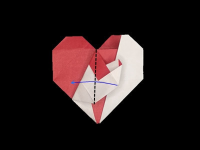 origami-heart-in-heart-Step 30
