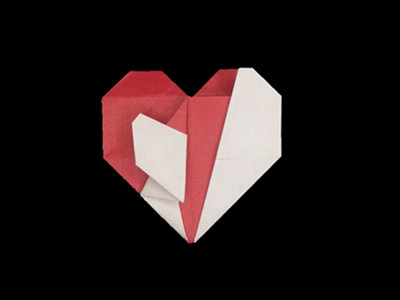 origami-heart-in-heart-Step 31