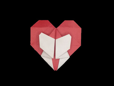 origami-heart-in-heart-Step 32