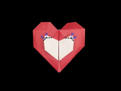 origami-heart-in-heart-Step 33