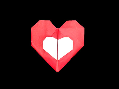 origami-heart-in-heart-Step 34