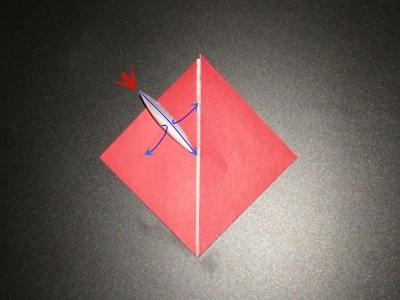 origami-heart-with-flower-Step 7