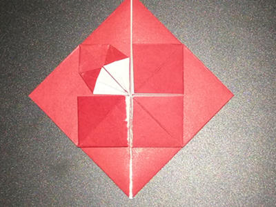 origami-heart-with-flower-Step 11