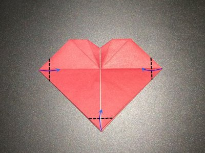 origami-heart-with-flower-Step 14