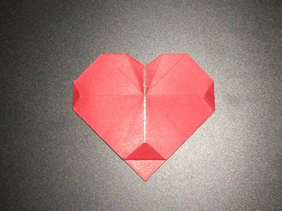 origami-heart-with-flower-Step 15