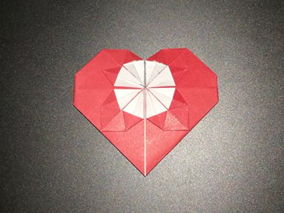 origami-heart-with-flower-Step 16