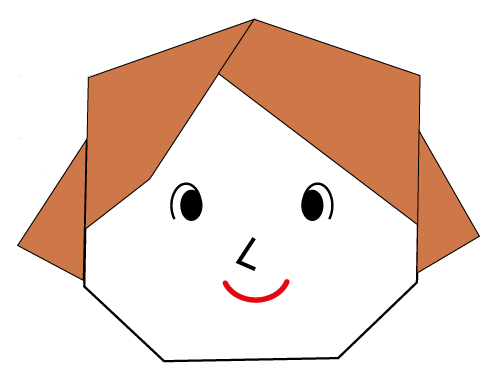 Origami mother face