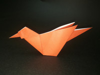 Origami little bird