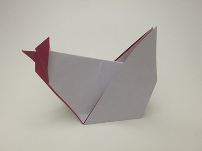 origami-rooster