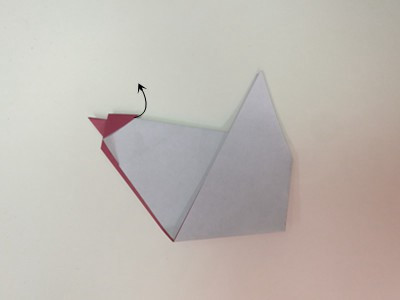 origami-rooster-Step 13