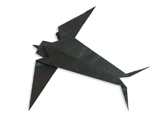 Origami Swallow by Mindaugas Cesnavicius folded by Gilad Aharoni ... | 420x560
