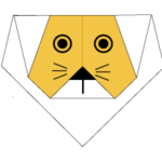 origami-lion-face